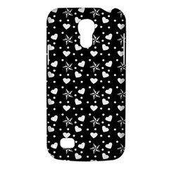 Hearts And Star Dot Black Samsung Galaxy S4 Mini (gt I9190) Hardshell Case  by snowwhitegirl