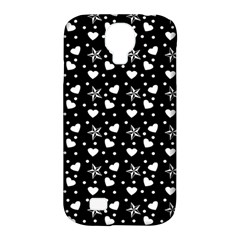 Hearts And Star Dot Black Samsung Galaxy S4 Classic Hardshell Case (pc+silicone) by snowwhitegirl