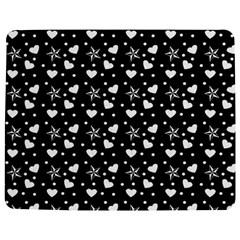 Hearts And Star Dot Black Jigsaw Puzzle Photo Stand (rectangular) by snowwhitegirl