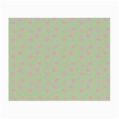 Hearts And Star Dot Green Small Glasses Cloth (2-side) by snowwhitegirl