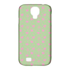 Hearts And Star Dot Green Samsung Galaxy S4 Classic Hardshell Case (pc+silicone) by snowwhitegirl