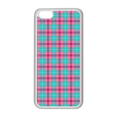 Blue Pink Plaid Apple Iphone 5c Seamless Case (white)