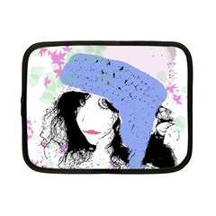 Girl With Hat Netbook Case (small) by snowwhitegirl