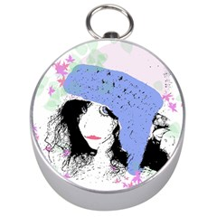 Girl With Hat Silver Compasses by snowwhitegirl