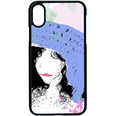 Girl With Hat Apple Iphone X Seamless Case (black) by snowwhitegirl