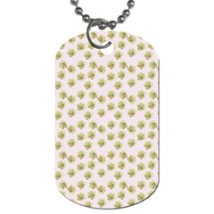 Antique Flowers Pink Dog Tag (one Side) by snowwhitegirl