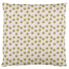Antique Flowers Pink Large Flano Cushion Case (one Side) by snowwhitegirl