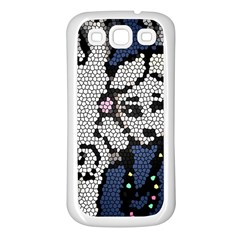 Pixie Girl Stained Glass Samsung Galaxy S3 Back Case (white)