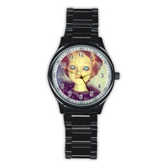 Freckley Boy Stainless Steel Round Watch by snowwhitegirl