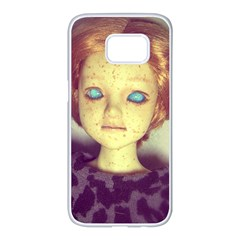 Freckley Boy Samsung Galaxy S7 Edge White Seamless Case by snowwhitegirl