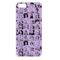 Lilac Yearbok Apple Iphone 5 Seamless Case (white) by snowwhitegirl