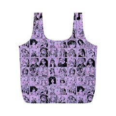 Lilac Yearbok Full Print Recycle Bag (m) by snowwhitegirl