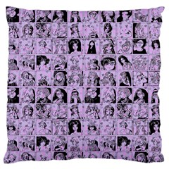 Lilac Yearbok Large Flano Cushion Case (one Side) by snowwhitegirl