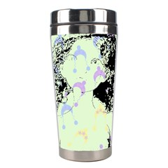 Mint Wall Stainless Steel Travel Tumblers by snowwhitegirl