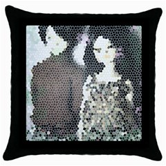 Dolls Stained  Glass Throw Pillow Case (black) by snowwhitegirl