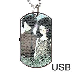 Dolls Stained  Glass Dog Tag Usb Flash (two Sides)