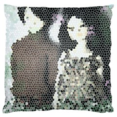 Dolls Stained  Glass Large Cushion Case (two Sides) by snowwhitegirl
