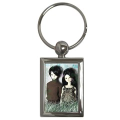 Dolls In The Grass Key Chains (rectangle)