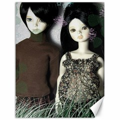 Dolls In The Grass Canvas 12  X 16   by snowwhitegirl
