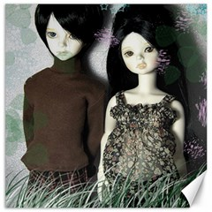 Dolls In The Grass Canvas 16  X 16   by snowwhitegirl