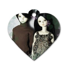 Dolls In The Grass Dog Tag Heart (two Sides) by snowwhitegirl