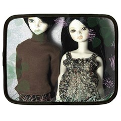 Dolls In The Grass Netbook Case (large) by snowwhitegirl
