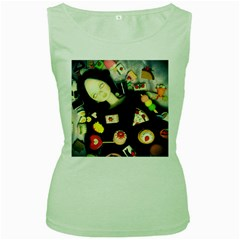 Food Women s Green Tank Top
