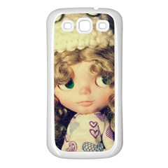 Cute Doll Samsung Galaxy S3 Back Case (white) by snowwhitegirl