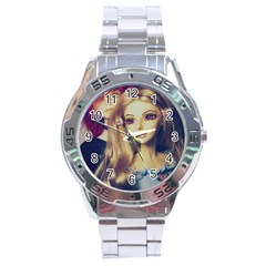 Doll Couple Stainless Steel Analogue Watch by snowwhitegirl