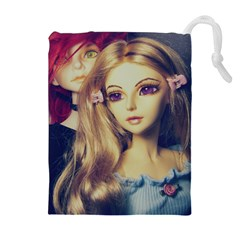 Doll Couple Drawstring Pouch (xl) by snowwhitegirl