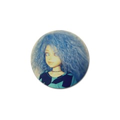 Blue Hair Boy Golf Ball Marker (4 Pack) by snowwhitegirl