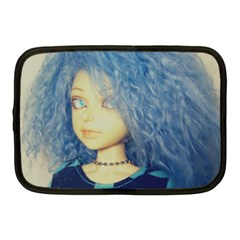 Blue Hair Boy Netbook Case (medium) by snowwhitegirl
