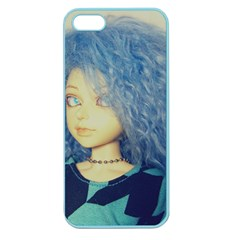 Blue Hair Boy Apple Seamless Iphone 5 Case (color) by snowwhitegirl