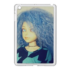 Blue Hair Boy Apple Ipad Mini Case (white) by snowwhitegirl