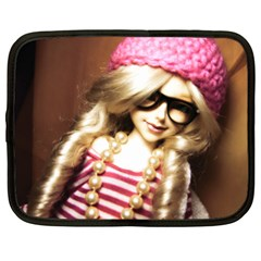 Cover Girl Netbook Case (large) by snowwhitegirl
