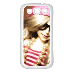 Cover Girl Samsung Galaxy S3 Back Case (white) by snowwhitegirl