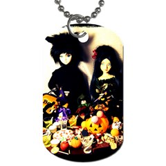 Old Halloween Photo Dog Tag (one Side) by snowwhitegirl