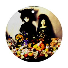 Old Halloween Photo Round Ornament (two Sides) by snowwhitegirl