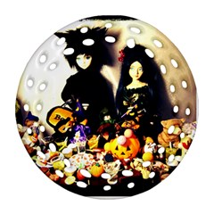 Old Halloween Photo Round Filigree Ornament (two Sides) by snowwhitegirl