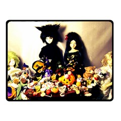 Old Halloween Photo Double Sided Fleece Blanket (small)