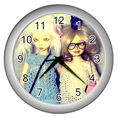 Wall Clock (silver) by snowwhitegirl