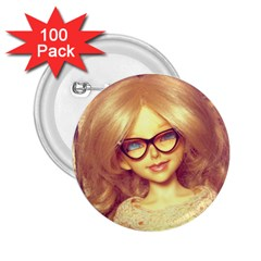 Girls With Glasses 2 25  Buttons (100 Pack)  by snowwhitegirl