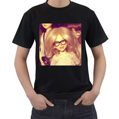 Girls With Glasses Men s T Shirt (black) (two Sided) by snowwhitegirl