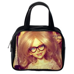 Girls With Glasses Classic Handbag (one Side) by snowwhitegirl