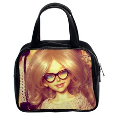 Girls With Glasses Classic Handbag (two Sides) by snowwhitegirl