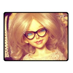 Girls With Glasses Fleece Blanket (small) by snowwhitegirl