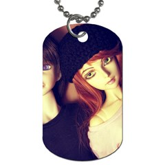 Couple Dog Tag (two Sides) by snowwhitegirl