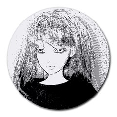 Girl Round Mousepads