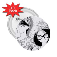 Twins 2 25  Buttons (10 Pack)  by snowwhitegirl