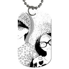 Twins Dog Tag (two Sides) by snowwhitegirl